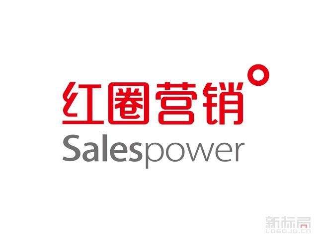 移动营销app红圈营销标志logo字体设计