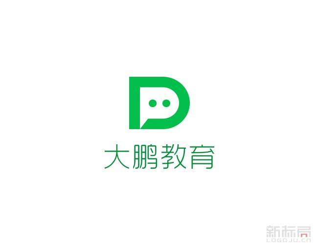 在线教育平台大鹏教育标志logo