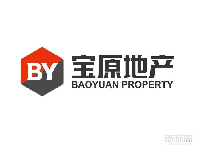 房产销售宝原地产标志logo