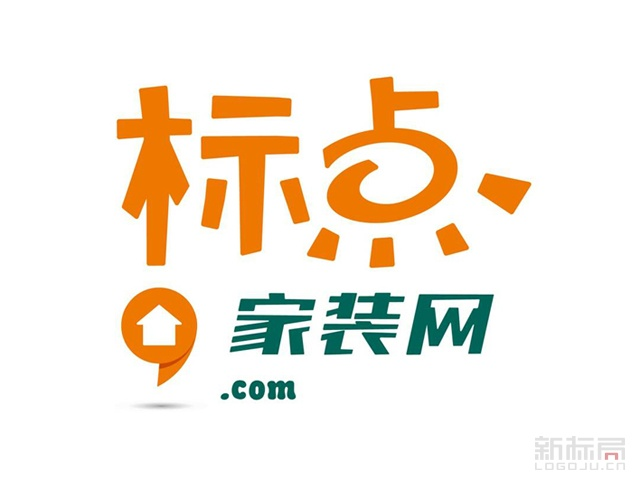 上海装修服务平台标点家装网标志logo