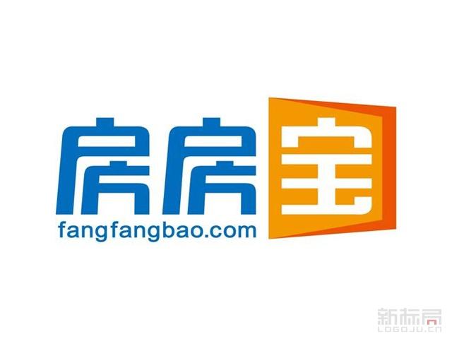 旅游房产O2O平台房房宝标志logo字体设计