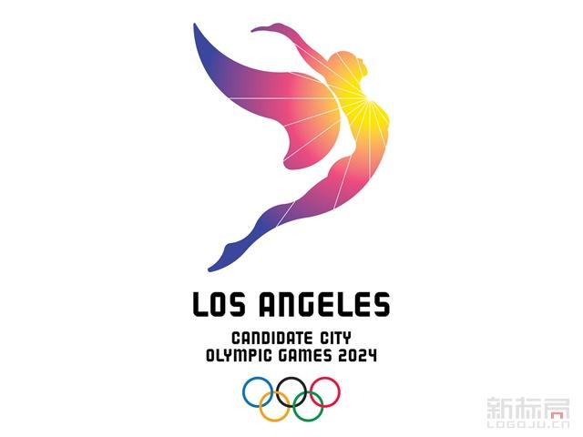 美国洛杉矶2024年申奥标识logo