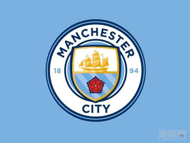 英超球队曼城俱乐部新队徽标志logo