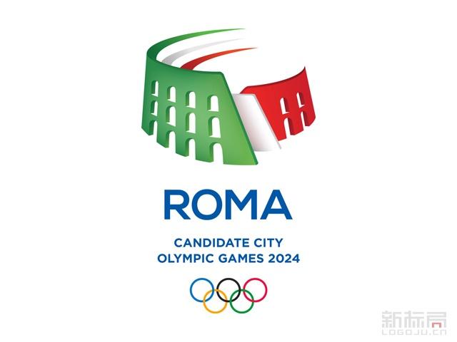 意大利罗马申办2024年奥运会标识logo