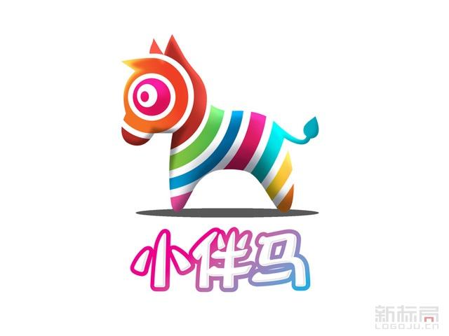 亲子娱教平台VR小伴马标志logo