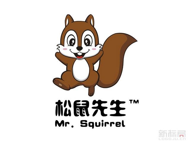 松鼠先生食品品牌标志logo