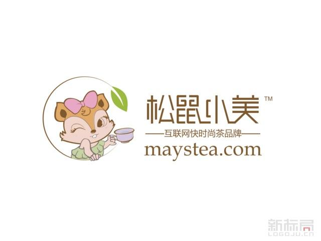 互联网茶品牌松鼠小美标志logo