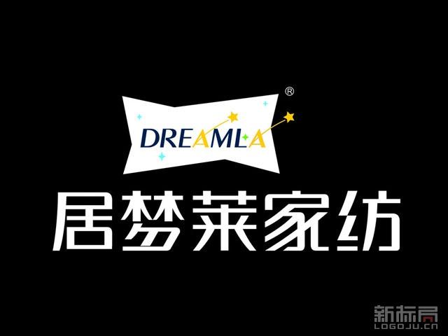 居梦莱家纺品牌标志logo