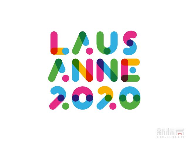 瑞士洛桑申办2020年冬季青奥会标识logo