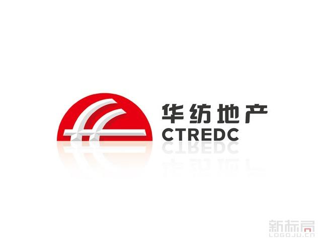 华纺地产CTREDC标志logo设计
