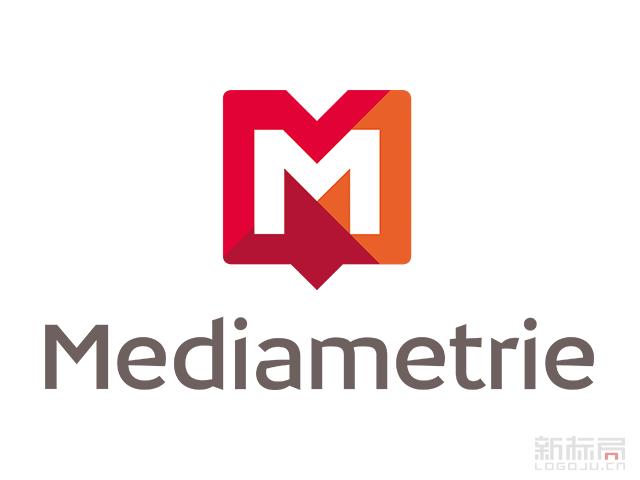 法国媒体收视监测公司Mediametrie标志logo