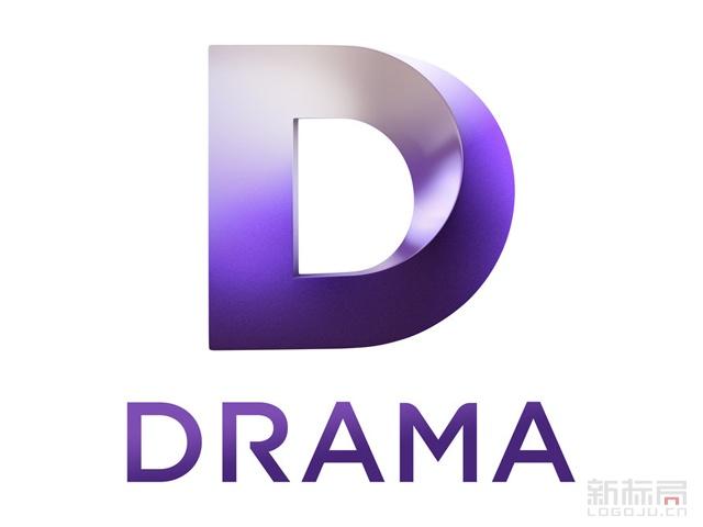 英国UKTV戏剧频道Drama标志logo