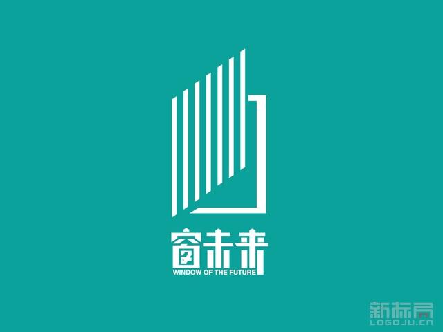 黑龙江岳峰门窗旗下品牌窗未来标志logo