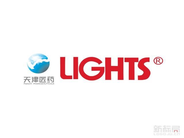 天津医药lights标志logo