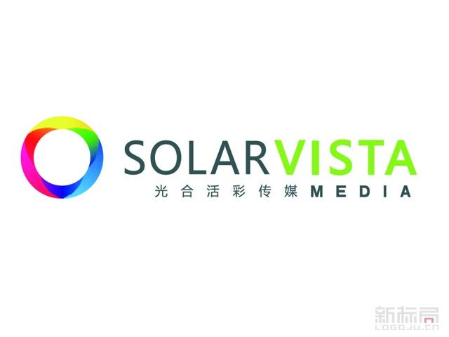 光合活彩传媒标志logo