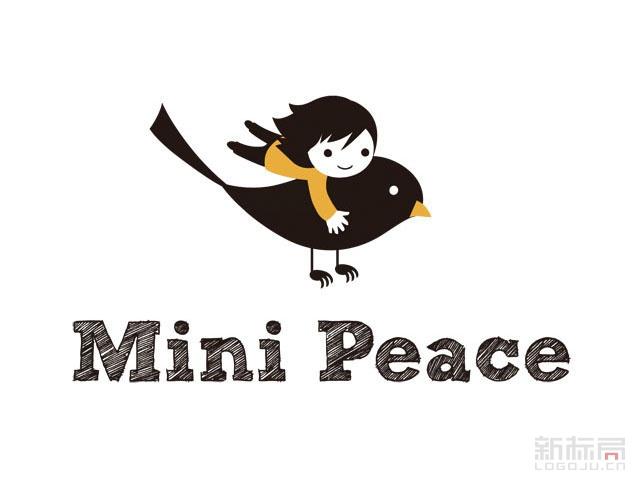 太平鸟旗下儿童服装品牌Mini Peace标志logo