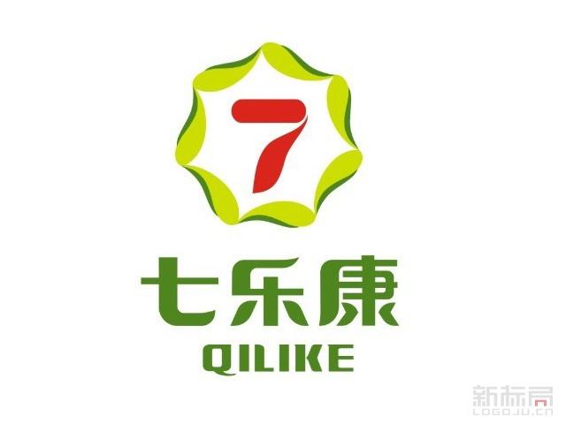 七乐康网上大药房标志logo旧