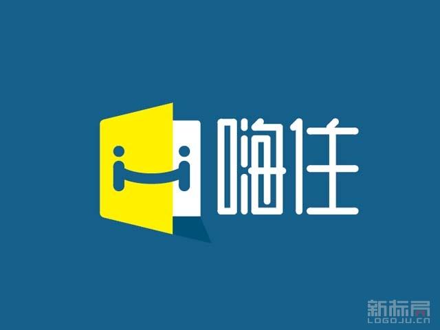 租房服务平台嗨住标志logo