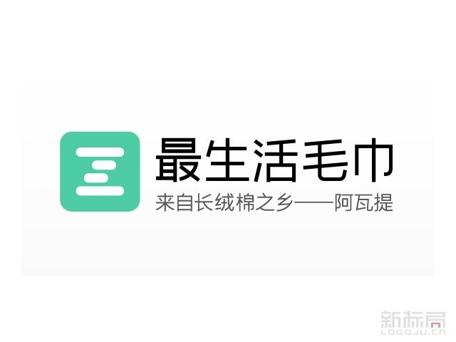 小米最生活毛巾标志logo