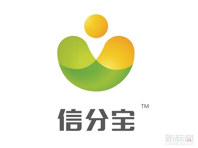 互联网金融平台信分宝标志logo