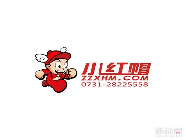 小红帽跑腿生活服务标志logo