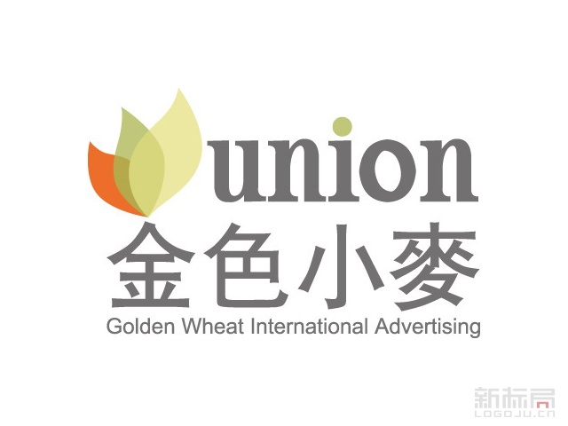 金色小麦广告标志