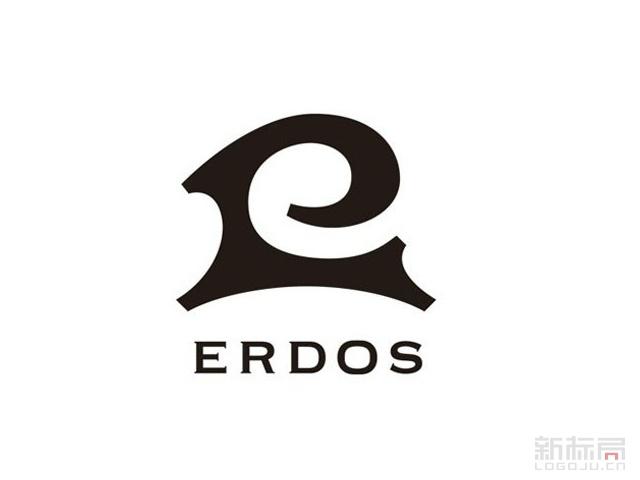 羊绒服饰品牌鄂尔多斯ERDOS旧标志logo