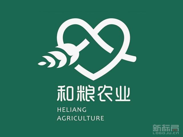和粮农业互联网五谷杂粮品牌标志logo