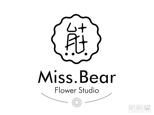 missBear熊小姐花艺标志logo