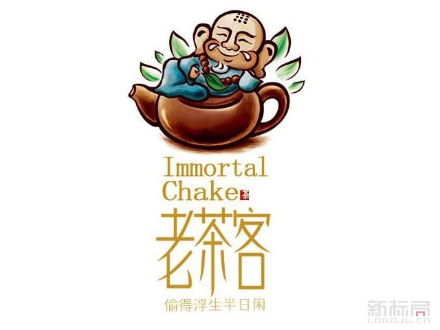 老茶客标志logo