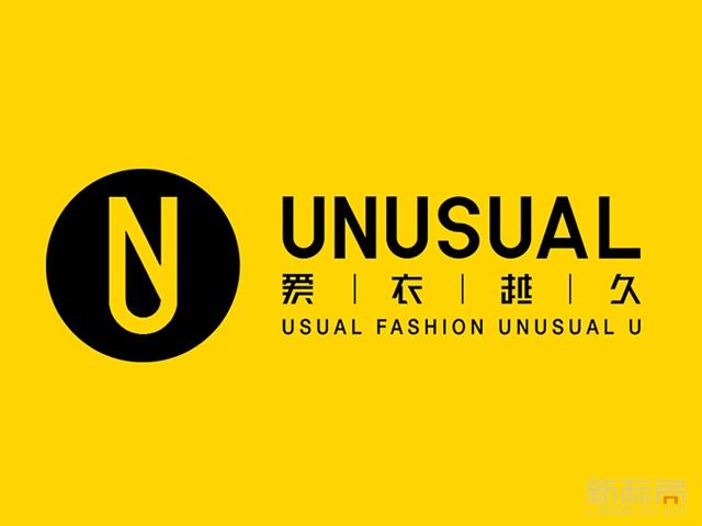 unusual爱衣越久服装品牌标志logo