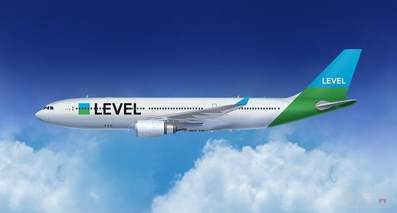 英国全新廉价航空公司LEVEL品牌标志logo