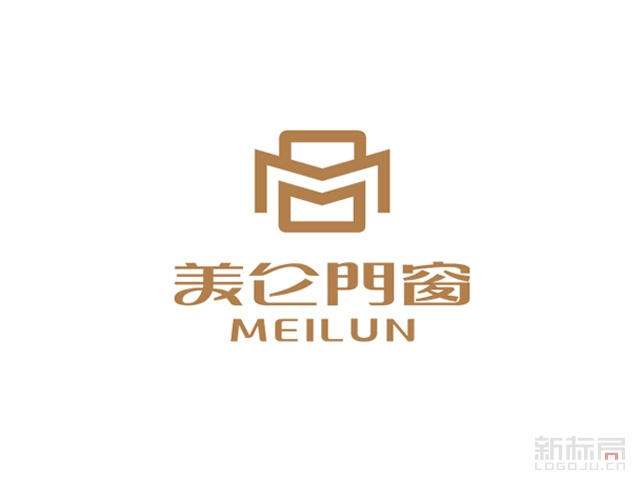 美仑门窗标志logo
