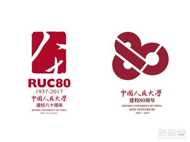 中国人民大学80周年校庆标志logo