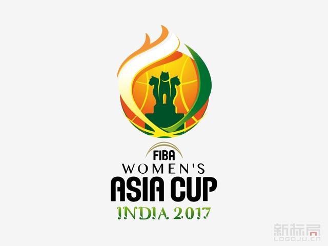 2017年女篮亚洲杯会徽标志logo