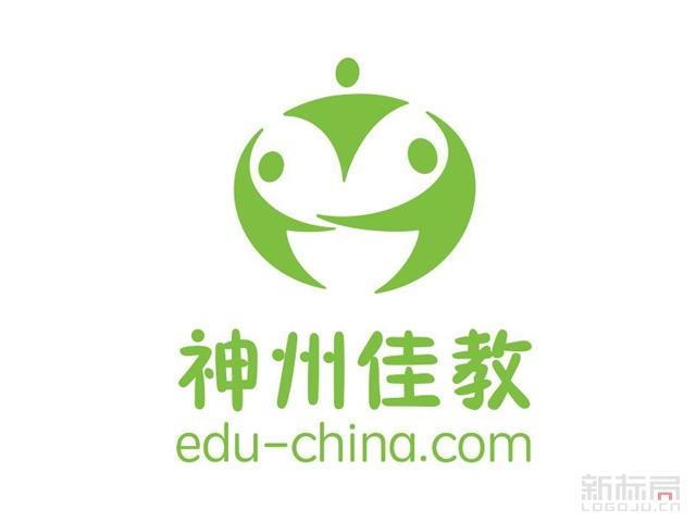 神州佳教中国教育O2O社区化服务平台标志logo