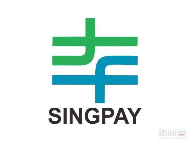 singpay薪付宝标志logo