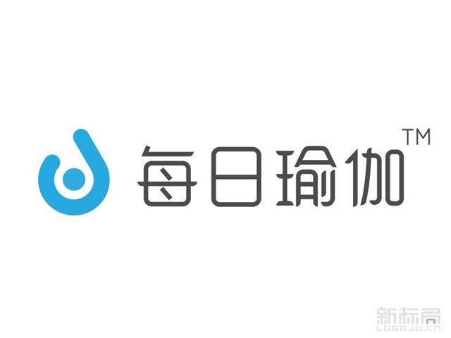 每日瑜伽移动瑜伽应用app标志logo