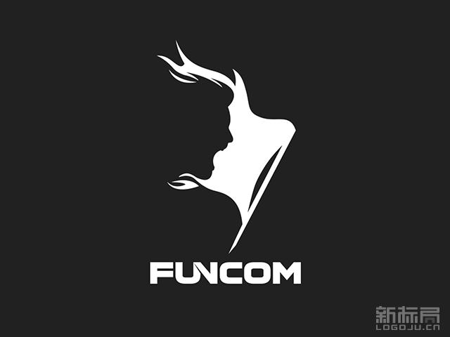 大型多人在线游戏开发商Funcom标志logo