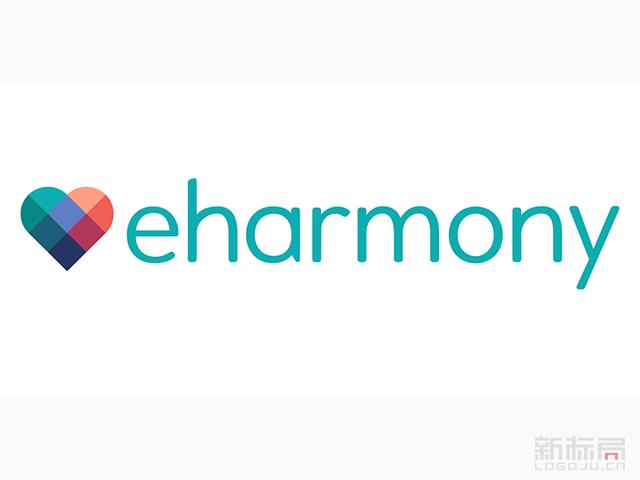 美国主流在线约会服务平台eharmony标志logo
