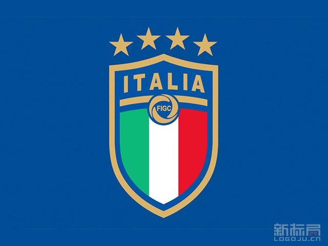 意大利国家足球队2017新队徽标志logo