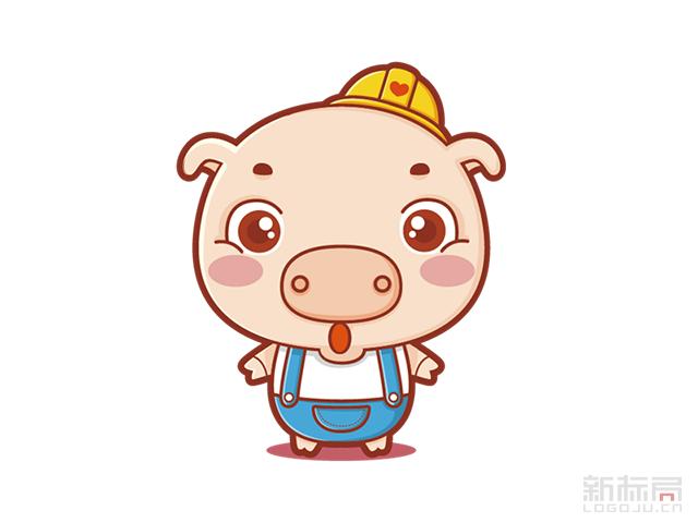 棒棒猪卡通吉祥物设计