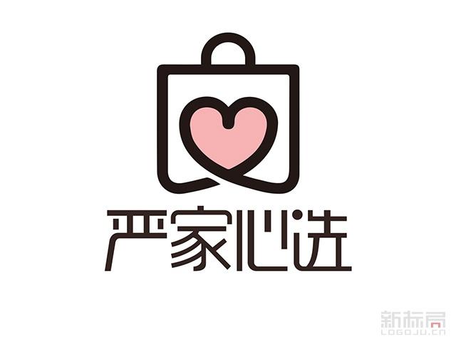 严家心选电商标志logo