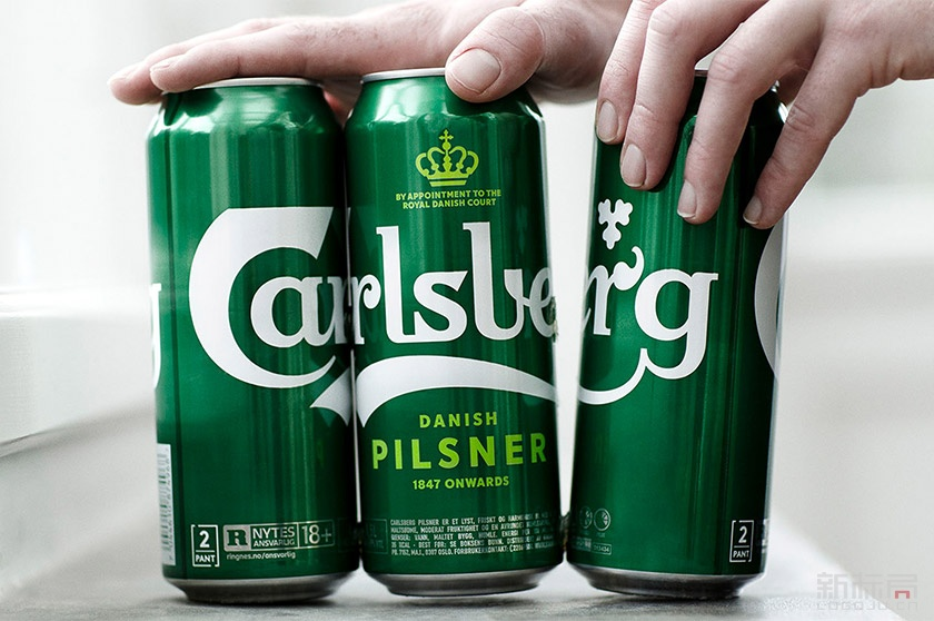 嘉士伯Carlsberg啤酒品牌新标志logo