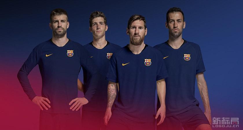 巴塞罗那足球俱乐部Futbol Club Barcelona新标志logo队徽