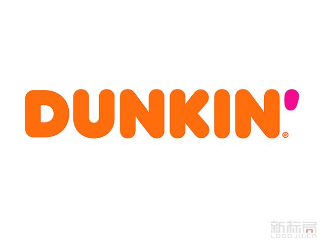 甜甜圈连锁店品牌唐恩都乐Dunkin'新标志logo