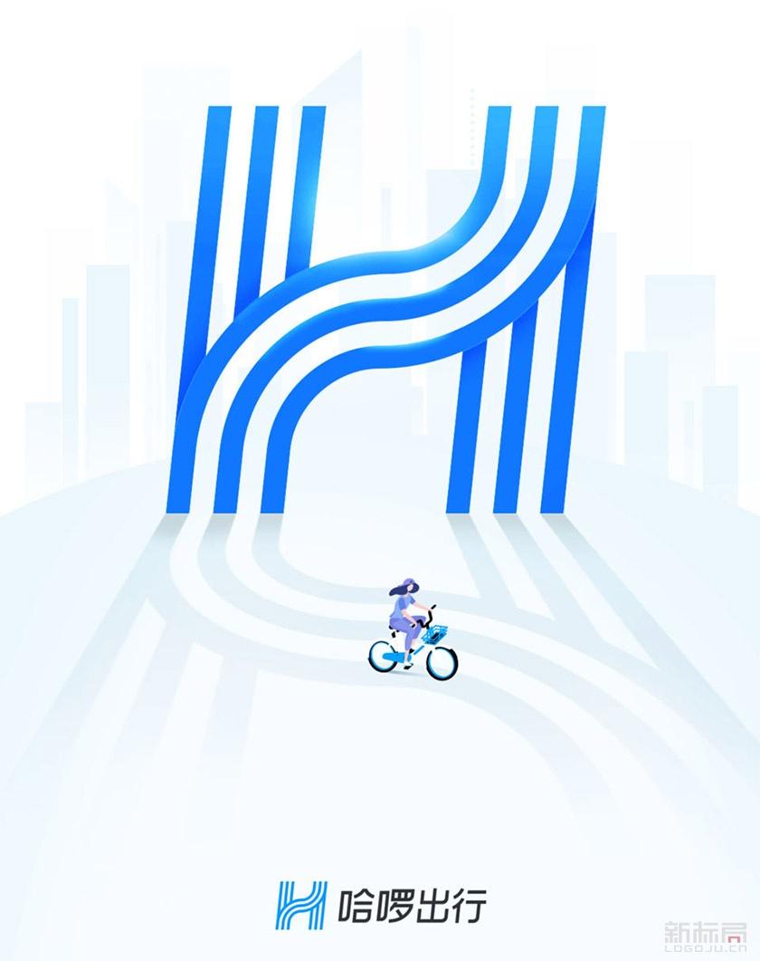 哈罗单车出行全新标志logo