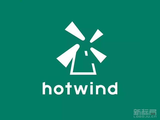 零售连锁品牌热风Hotwind新标志logo