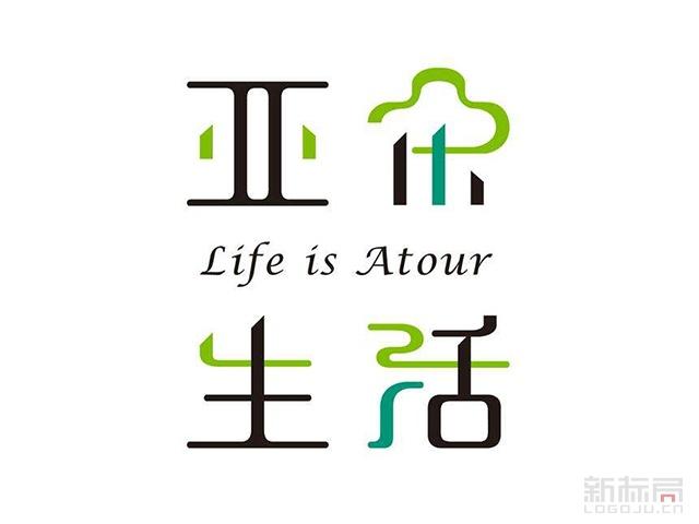 亚朵生活标志logo