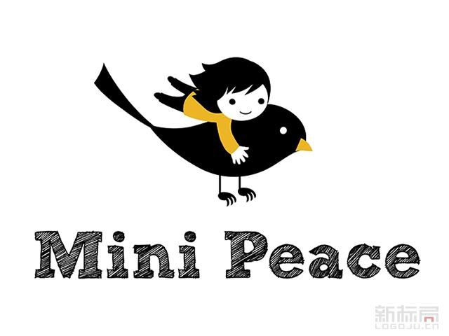 太平鸟儿童品牌minipeace标志logo